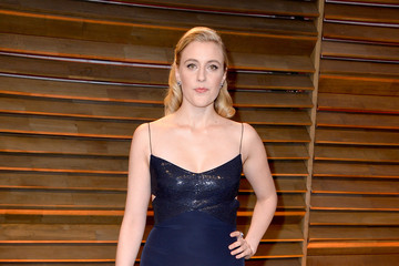 Greta Gerwig Stars at the Vanity Fair Oscar Party