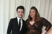 Actors Chris Colfer (L) and Ashley Fink attend Grey Goose at 21st Annual Elton John AIDS Foundation Academy Awards Viewing Party at Pacific Design Center on February 24, 2013 in West Hollywood, California.