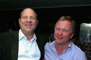 Producer Harvey Weinstein and SoHo House Founder Nick Jones attend The Weinstein Company film premiere party hosted by Grey Goose for 'The Master' at Soho House Toronto on September 7, 2012 in Toronto, Canada.