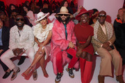 Gucci Mane, Keyshia Ka'oir, Jared Leto, Jodie Turner-Smith and Dapper Dan attend the Gucci show during Milan Fashion Week Spring/Summer 2020 on September 22, 2019 in Milan, Italy.