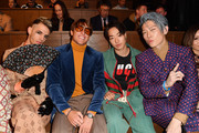 Achille Lauro, Leonardo Fioravanti, Zen and Miyavi are seen on Gucci Front Row during Milan Meanswear Fashion Week Fall/Winter 2020/21 on January 14, 2020 in Milan, Italy.