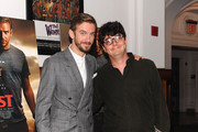 Actor Dan Stevens (L) and director at BAMcinematek Gabriele Caroti attend 'The Guest' New York special screening at BAM on September 16, 2014 in New York City.
