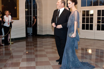 Harvey Weinstein Georgina Chapman Guests Arrive For White House State Dinner For UK Prime Minister Cameron
