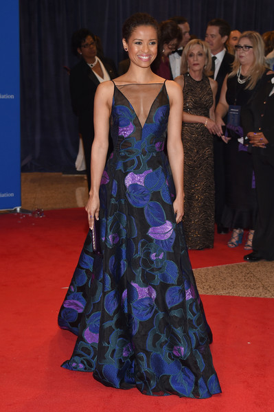 102nd White House Correspondents' Association Dinner - Arrivals [red carpet,dress,carpet,gown,clothing,fashion model,flooring,fashion,premiere,event,arrivals,gugu mbatha-raw,washington dc,white house correspondents association dinner]