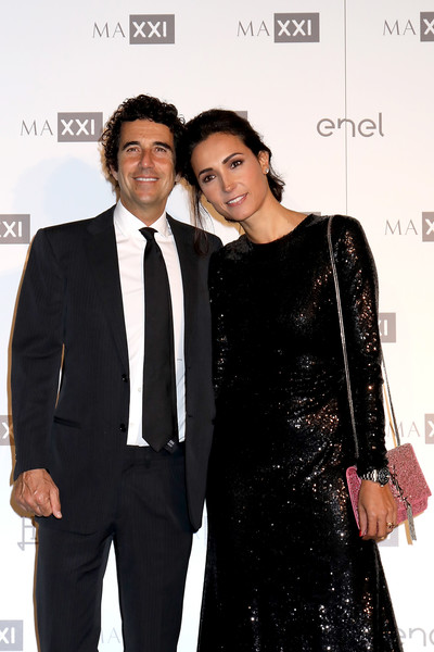 MAXXI Acquisition Gala Dinner 2018 [suit,event,formal wear,fashion,tuxedo,white-collar worker,dress,premiere,little black dress,carpet,guido maria brera,caterina balivo,dinner,maxxi museum,rome,italy,maxxi acquisition gala,maxxi acquisition gala dinner]