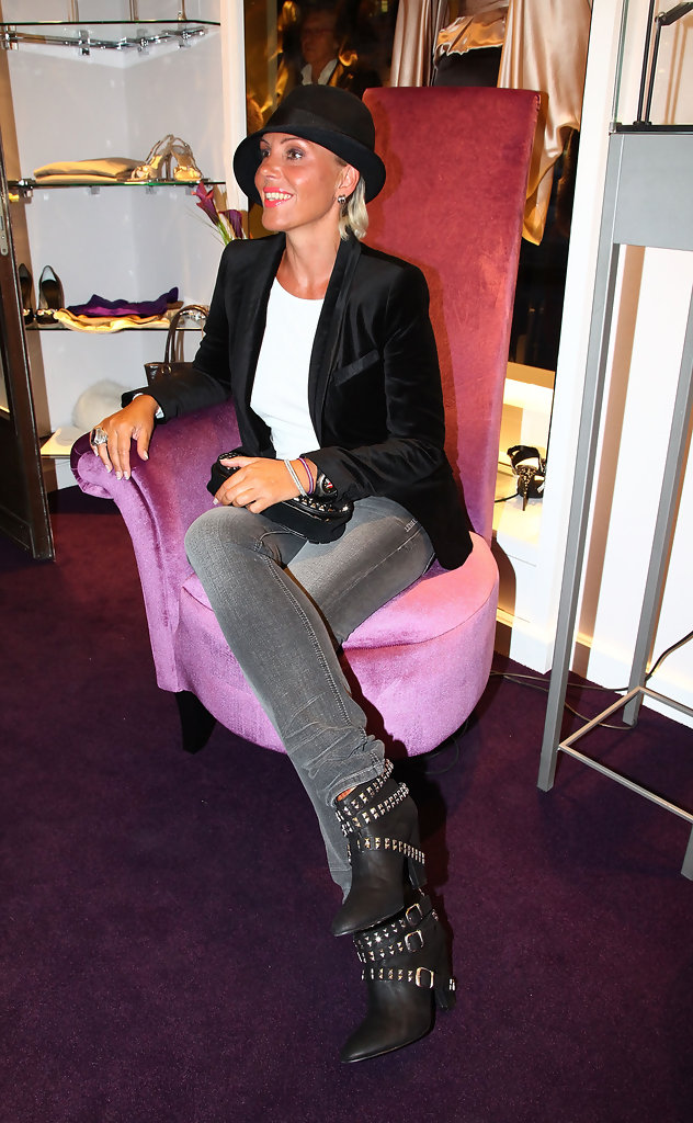 natascha ochsenknecht in guido maria kretschmer shop opening zimbio. Black Bedroom Furniture Sets. Home Design Ideas