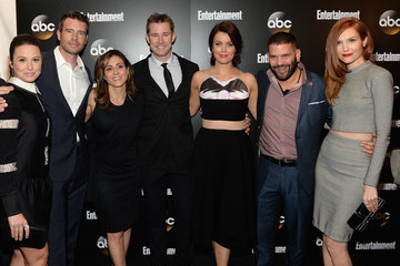 Guillermo Diaz Darby Stanchfield Entertainment Weekly and ABC Upfront Celebration