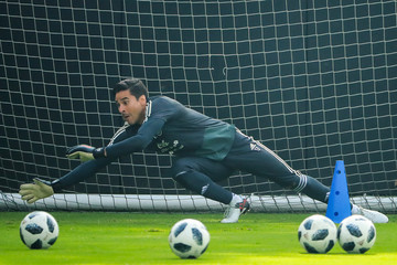 Guillermo Ochoa Mexico National Team Training Session And Press Conference