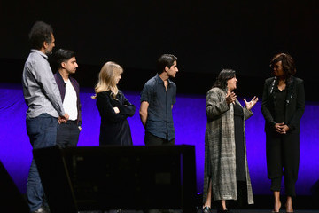Gurinder Chadha Sarfraz Manzoor CinemaCon 2019 - Warner Bros. Pictures Invites You To 'The Big Picture,' An Exclusive Presentation Of Its Upcoming Slate