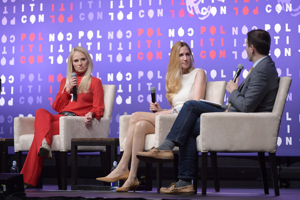 Politicon 2019 – Day 1 [television program,event,newscaster,interaction,conversation,spokesperson,media,news conference,talent show,news,politicon,l-r,nashville,tennessee,music city center,tomi lahren,guy benson,ann coulter]