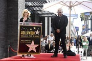 (L-R) Kathleen Finch speaks as Chef Guy Fieri is honored is with the 2,664th Star on the Hollywood Walk of Fame Star, in Hollywood, California.