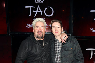 Guy Fieri Hunter Fieri TAO Group's Big Game Takeover Presented By Tongue & Groove
