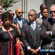 Gwen Carr Rev. Al Sharpton and Family of Police Chokehold Death Victim Eric Garner Brief the Media After Meeting With DOJ Officials