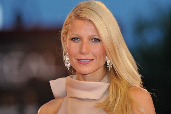 "Gwyneth Paltrow Actress Gwyneth Paltrow (Earring Detail) attends the ""Contagion"" premiere during the 68th Venice Film Festival at Palazzo del Cinema on September 3, 2011 in Venice, Italy."