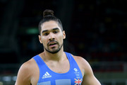 Louis Smith of Great Britain looks on after he competes on the pommel horse in the Artistic Gymnastics Men's Team qualification on Day 1 of the Rio 2016 Olympic Games at Rio Olympic Arena on August 6, 2016 in Rio de Janeiro, Brazil.