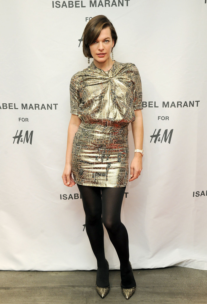 Milla Jovovich attends H&M Isabel Marant VIP Pre-Shopping Event at H&M Fifth Avenue on November 12, 2013 in New York City.