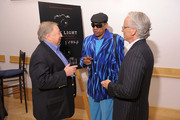"""(L-R) Director and photographer Neil Leifer, film subject, pianist and photographer Henry Butler and VP of HBO Documentary Films John Hoffman attend the HBO Documentary Screening Of """"Dark Light"""" at Lighthouse Internation Conference Center on November 8, 2010 in New York City."""