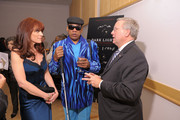 """(L-R) Norena Barbella, film subject, pianist and photographer Henry Butler and Lighthouse International President Mark Ackerman attend the HBO Documentary Screening Of """"Dark Light"""" at Lighthouse Internation Conference Center on November 8, 2010 in New York City."""