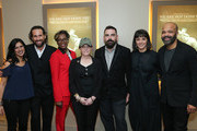 "(L-R) Seema Reza, Bobby Plagmann, April Harris, Anne Barlieb, Joe Merritt, Sareen Hairabedian and Jeffrey Wright attend the HBO Documentary Screening Of ""We Are Not Done Yet"" at HBO Theater on November 07, 2018 in New York City."