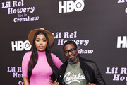 Karen Civil (L) and Lil Rel Howery attend HBO's Lil Rel Comedy Special Screening, Panel and Reception at NeueHouse Hollywood on November 21, 2019 in Los Angeles, California.