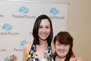 Actresses Heather McComb and Jamie Brewer attend the HBO Luxury Lounge featuring PANDORA at Four Seasons Hotel Los Angeles at Beverly Hills on August 23, 2014 in Beverly Hills, California.
