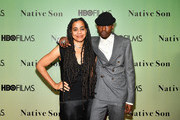 """Playwright Suzan-Lori Parks and actor Ashton Sanders attend HBO's """"Native Son"""" screening at Guggenheim Museum on April 1, 2019 in New York City."""