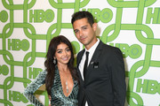 Sarah Hyland (L) and Wells Adams attend HBO's Official Golden Globe Awards After Party at Circa 55 Restaurant on January 6, 2019 in Los Angeles, California.