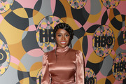 Aja Naomi King attends HBO's Official Golden Globes After Party at Circa 55 Restaurant on January 05, 2020 in Los Angeles, California.