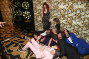 Kathryn Hahn, Amy Landecker, Gaby Hoffmann, Jay Duplass, Carrie Brownstein, Jill Soloway and the cast of 'Transparent' attend HBO's Post 2016 Golden Globe Awards Party at Circa 55 Restaurant on January 10, 2016 in Los Angeles, California.