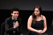 YoungArts alumni Justice Smith (L) and Analisa Gutierrez attend HBO's YoungArts MasterClass: Anna Deavere Smith Screening At The Metropolitan Museum Of Art on April 7, 2014 in New York City.