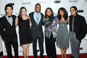 (L-R)  Justice Smith, Analisa Gutierrez, Joseph Wood, Anna Deavere Smith, Jaz Sinclair and Julian Aldana-Tejada attend HBO's YoungArts MasterClass: Anna Deavere Smith Screening At The Metropolitan Museum Of Art on April 7, 2014 in New York City.