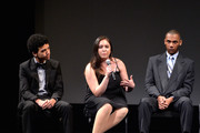 (L-R) YoungArts alumni Justice Smith, Analisa Gutierrez and Joseph Wood attend HBO's YoungArts MasterClass: Anna Deavere Smith Screening At The Metropolitan Museum Of Art on April 7, 2014 in New York City.
