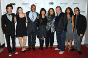 (L-R) , Justice Smith, Analisa Gutierrez, Joseph Wood, Karen Goodman, Anna Deavere Smith,  Kirk Simon, Jaz Sinclair and Julian Aldana-Tejada attend HBO's YoungArts MasterClass: Anna Deavere Smith Screening At The Metropolitan Museum Of Art on April 7, 2014 in New York City.