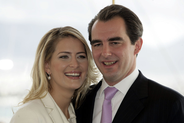 Prince Nikolaos of Greece   and Ms Tatiana  Blatnik during a photo call with the press following   their engagement at  The Yacht Club of Greece on February 1, 2010 in   Greece, Athens.