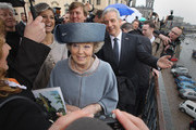 Queen Beatrix of the Netherlands, accompanied by Prince Willem-Alexander and Princess Maxima, tours the historic city center with Saxony Governor Stanislaw Tillich (R) on April 14, 2011 in Dresden, Germany. The Dutch royals are on a four-day visit to Germany that includes stops in Berlin, Dresden and Duesseldorf.