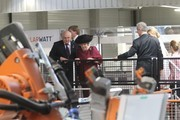 Queen Beatrix of the Netherlands (2ndL), Princess Maxima (R), Saxony's Prime Minister Stanislaw Tillich (2ndR) and CEO of Solarwatt Frank Schneider (L) attend a guided tour of a company for solar modules named Solarwatt on April 14, 2011 in Dresden, Germany. The Dutch royals are on a four-day visit to Germany that includes stops in Berlin, Dresden and Duesseldorf.