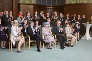 (L-R) Princess Maxima, Prince Willem Alexander, Queen Beatrix of the Netherlands, Saxony's Prime Minister Stanislaw Tillich and his wife Veronika Tillich attend the reception of the state's Prime Minister in the state chancellery on April 14, 2011 in Dresden, Germany. The Dutch royals are on a four-day visit to Germany that includes stops in Berlin, Dresden and Duesseldorf.