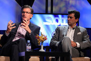 President of Entertainment, FOX Broadcasting Company, Kevin Reilly (L) and President, Initiative North America, Tim Spengler attend the HRTS and Academy of TV & Sciences 'State of the Industry' newsmaker luncheon at The Beverly Hilton on June 23, 2010 in Beverly Hills, California.