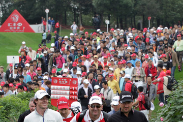 Rory McIlroy Graeme McDowell HSBC Champions - Day Four