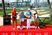 Lexi Thompson of the USA, Lydia Ko of New Zealand; Inbee Park of South Korea and ShanShan Feng of China during a photo call round prior to the HSBC Women's Champions at the Sentosa Golf Club on March 1, 2016 in Singapore, Singapore.