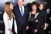 Jane Seymour, HSH Prince Albert II, Joan Collins, and Anne Sweeney attend the 60th Anniversary Party For The Monte-Carlo TV Festival at Sunset Tower Hotel on February 05, 2020 in West Hollywood, California.