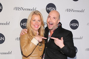CEO HSNi Mindy Grossman (L) and David Evangelista attend the celebration of HSN Digital Redesign at Marquee New York on January 16, 2013 in New York City.