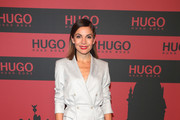 Nadine Warmuth at the HUGO Launch Party with live performance by Liam Payne at Wriezener Karree on July 03, 2019 in Berlin, Germany.