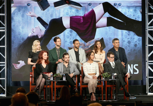 2016 Winter TCA Tour - Day 10 [winter tca,front,stage,musical,performance,heater,event,musical theatre,performing arts,art,performance art,theatrical scenery,sera gamble,michael london,john mcnamara,actors,actors,arjun gupta,hale appleman,olivia taylor dudley]