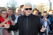 Heino arrives for the Hall Of Fame gala at Deutsches Fussballmuseum on April 01, 2019 in Dortmund, Germany.