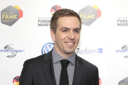 Philipp Lahm attends the Hall Of Fame gala at Deutsches Fussballmuseum on April 01, 2019 in Dortmund, Germany.