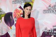 Actress Catherine Bell attends Hallmark Channel and Hallmark Movies and Mysteries Winter 2018 TCA Press Tour at Tournament House on January 13, 2018 in Pasadena, California.