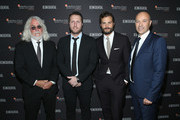 (L-R) Cinematographer Robert Richardson, director Matthew Heineman, Jamie Dornan and CEO, Hamilton Sylvain Dolla attend the Hamilton Behind the Camera Awards presented by Los Angeles Confidential Magazine on November 4, 2018 in Los Angeles, California.