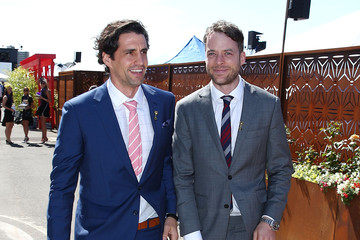 Hamish Blake Celebrities Attend Melbourne Cup Day