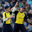 Dominic Cork and James Adams Photos
